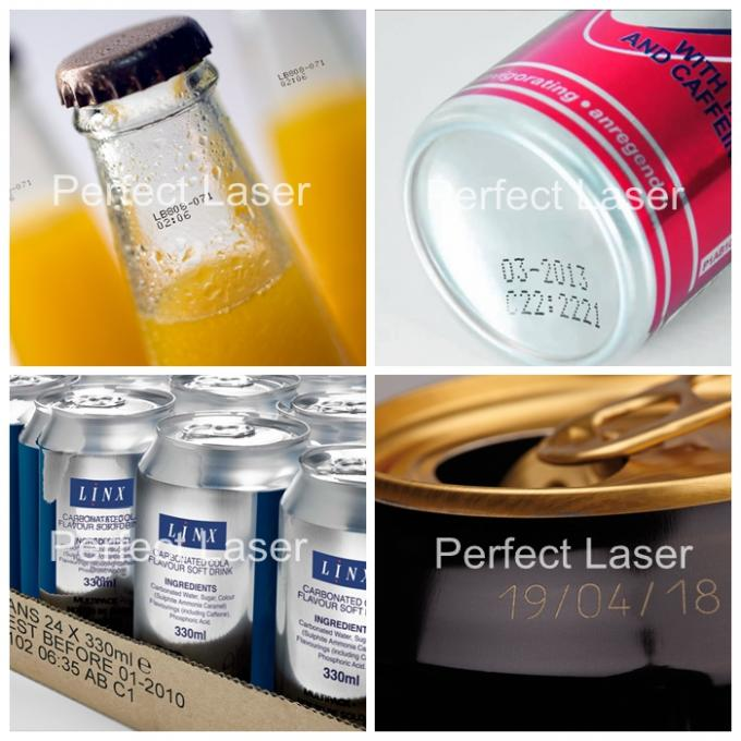 No Consumable Beverage Packaging CO2 Laser Printer High Precision