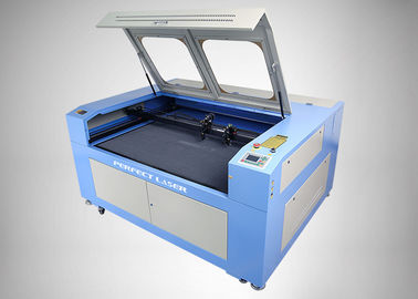 Double Heads CO2 Laser Engraving And Cutting Machine For Leather / Wood